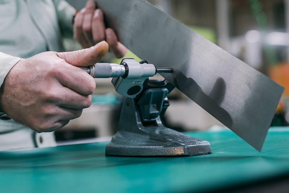 薄板研磨の測定